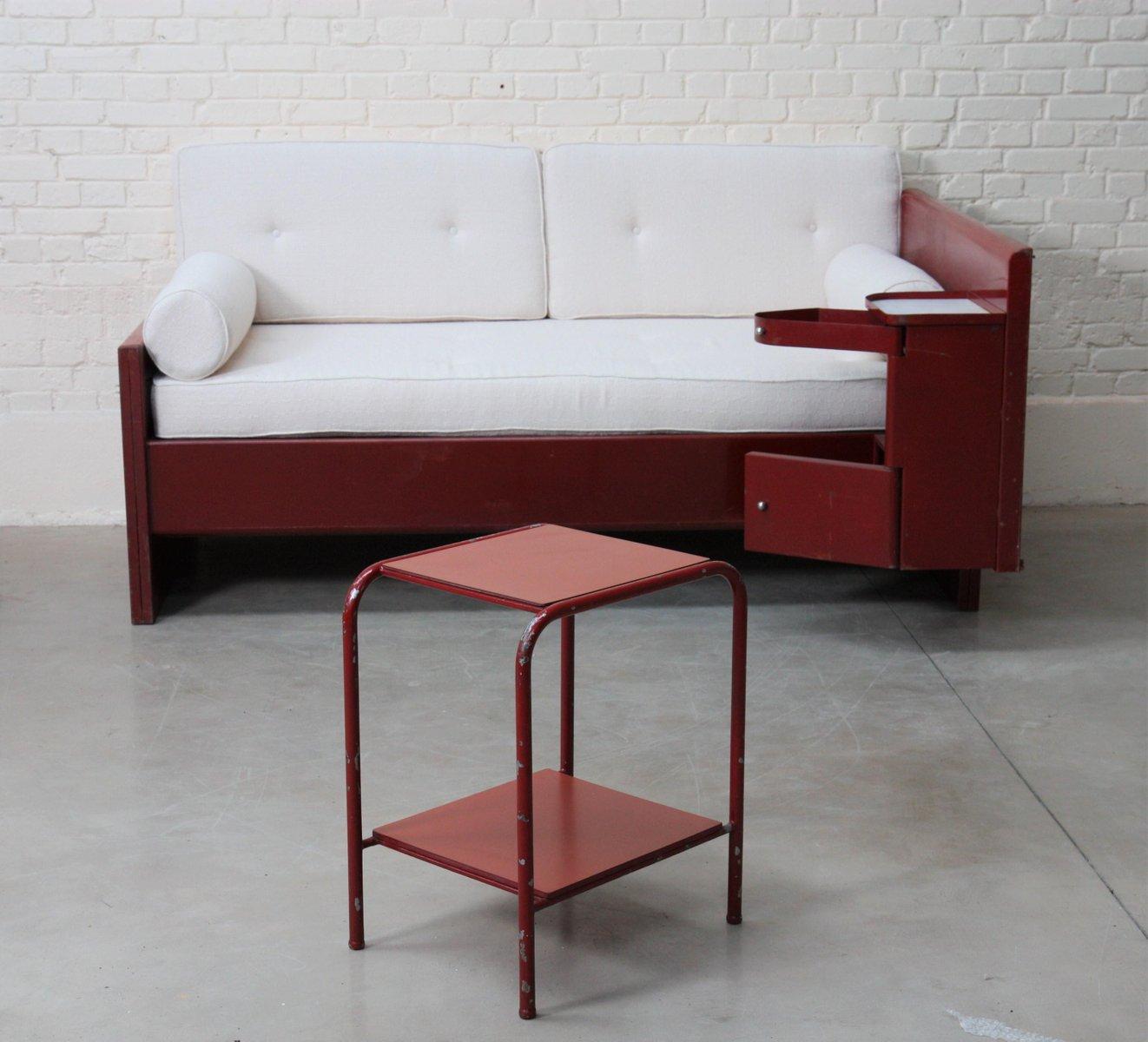 side table by jean prouve jules leleu 1930s