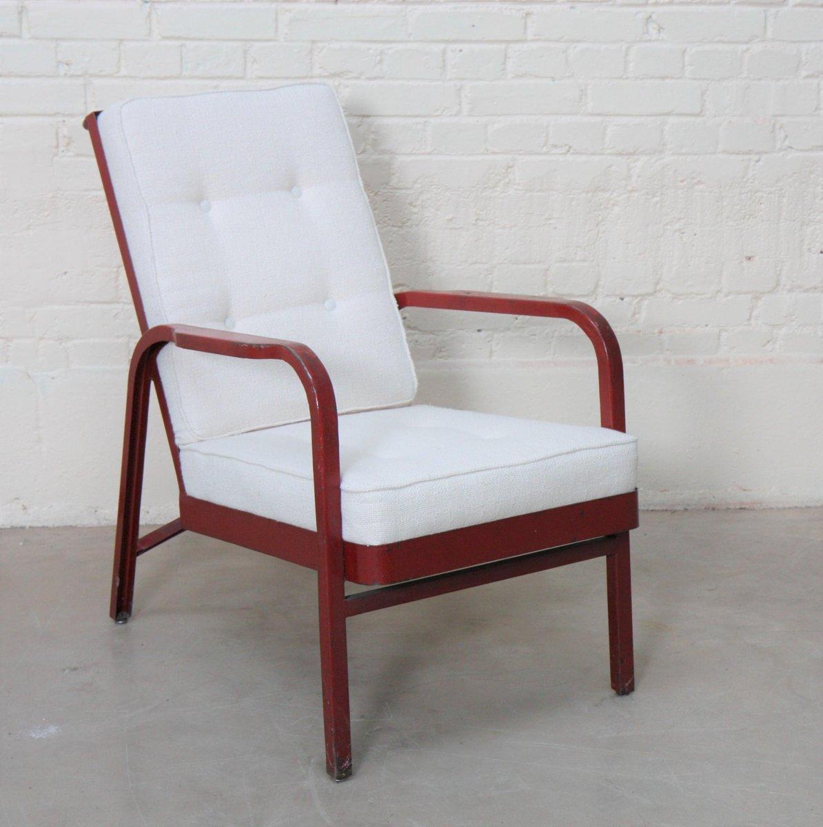 armchair by jean prouve jules leleu 1930s