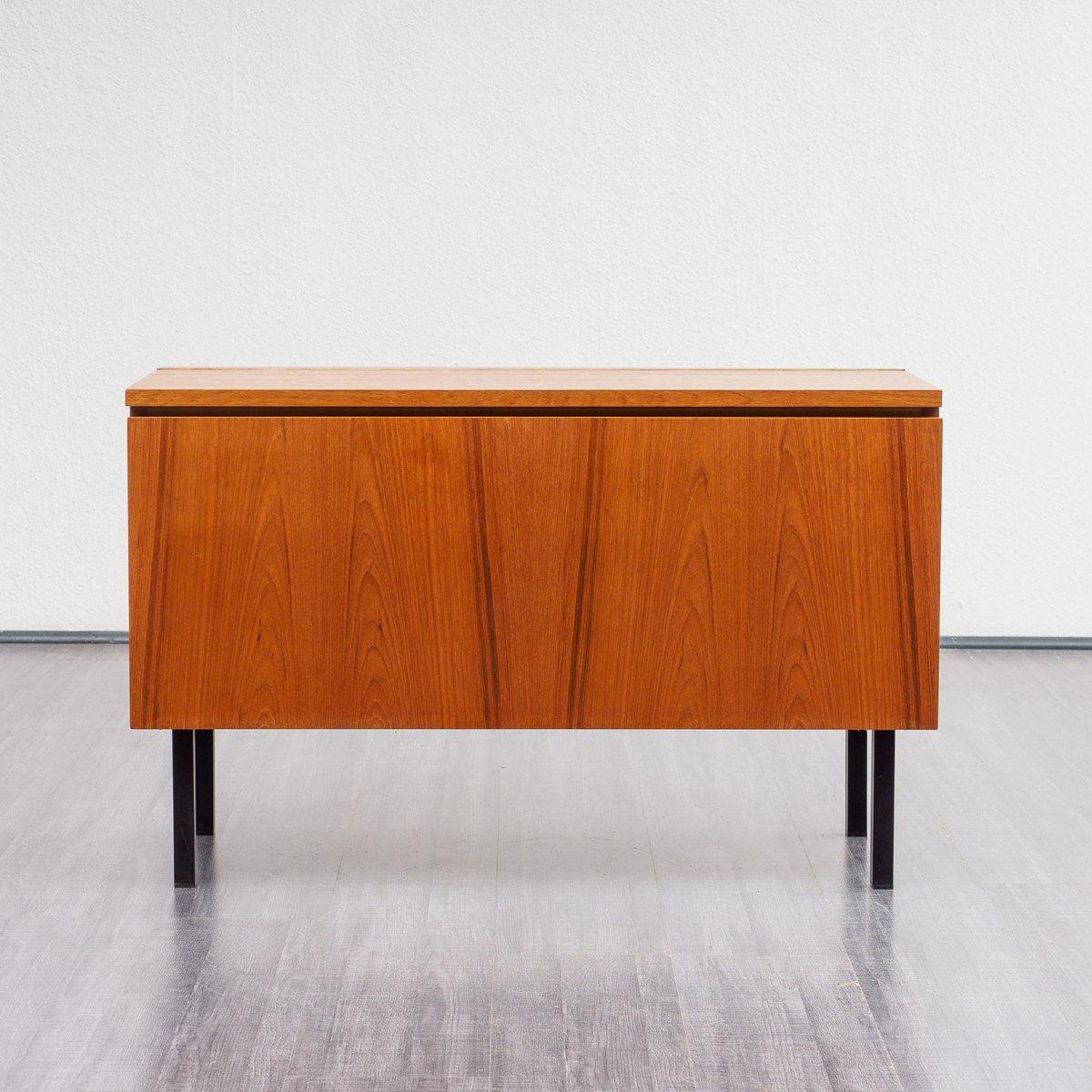 Mid Century Steel And Teak Dresser 1960s