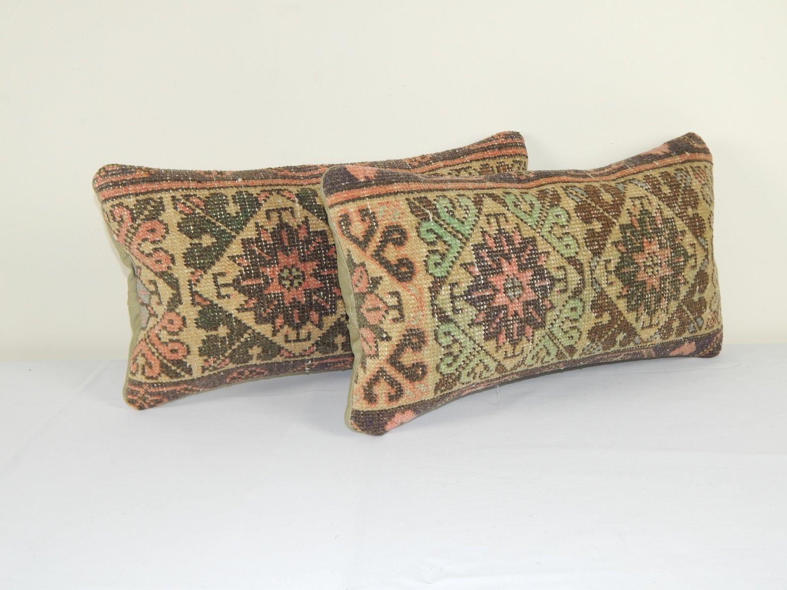 decorative turkish lumbar rug cushion covers set of 2