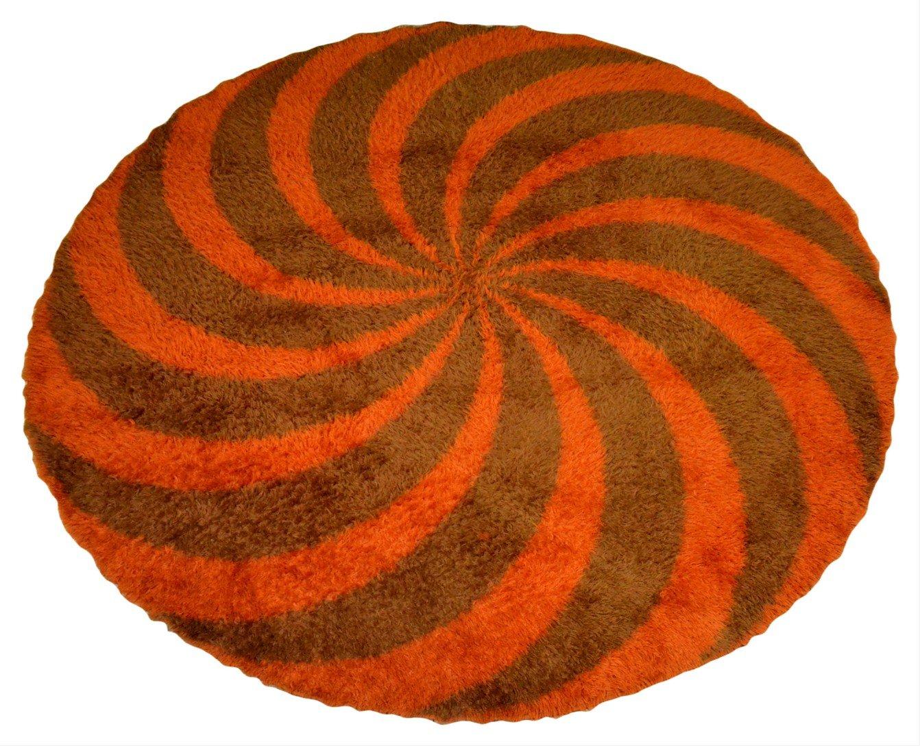 https www pamono fr tapis vintage rond en laine 1970s