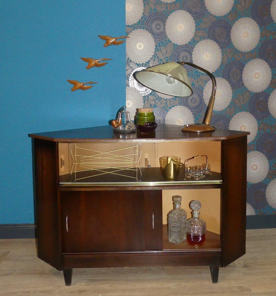 meuble bar d angle mid century 1960s