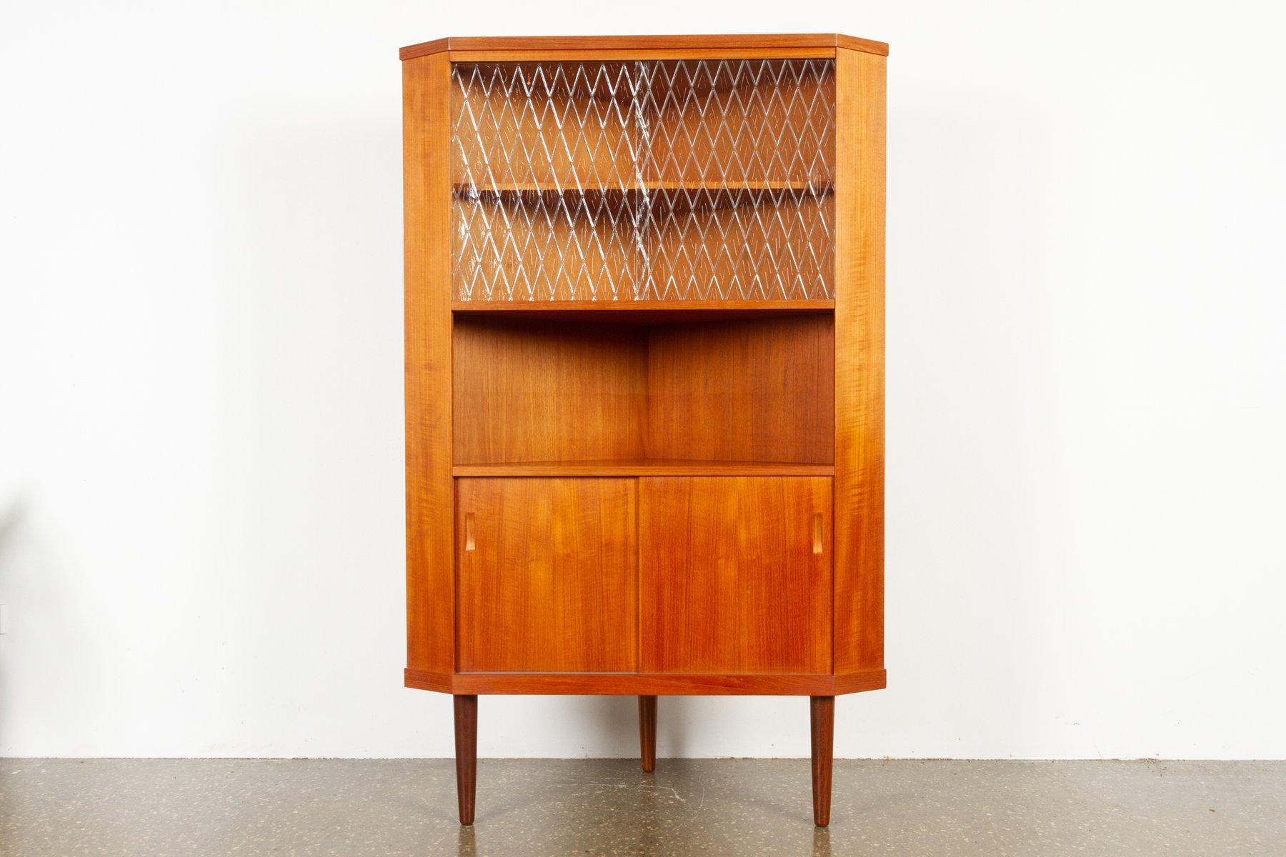 meuble d angle vintage en teck danemark 1960s