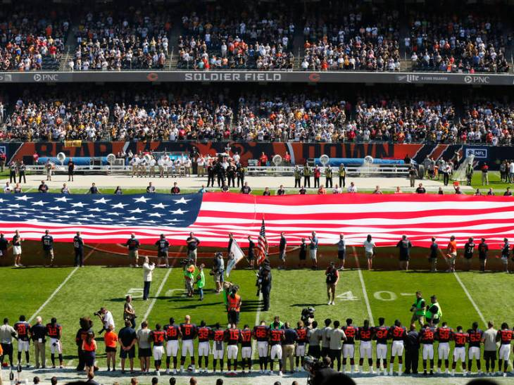 Steelers Stay In Locker Room During National Anthem; Bears Issue Statement After Trump's Attacks On NFL