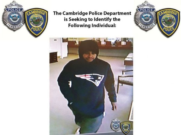 Police Seek Patriots Sweatshirt-Wearing Suspect in Bank ...