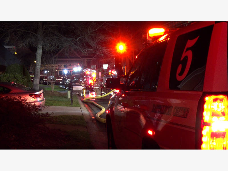 Fire Investigators South Charlotte House Fire