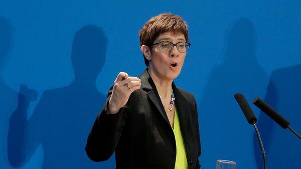 Secretary General of the German Christian Democratic Union Annegret Kramp-Karrenbauer