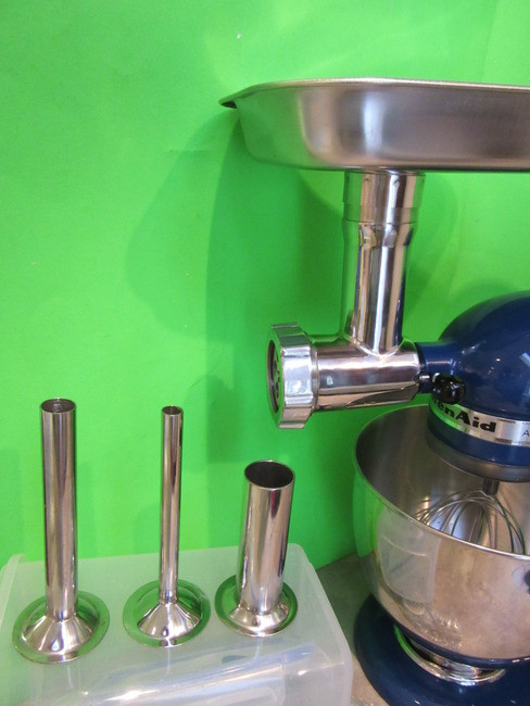 The Original STAINLESS STEEL Meat Grinder Attachment For