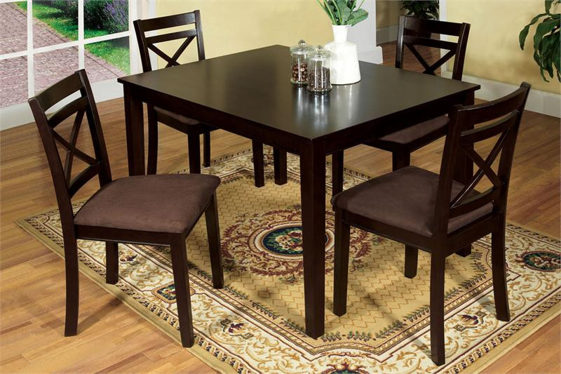 48  Kitchen Table   48  x 36  Espresso Wood Kitchen table for 4 Weston I Espresso Dining Table and Chairs