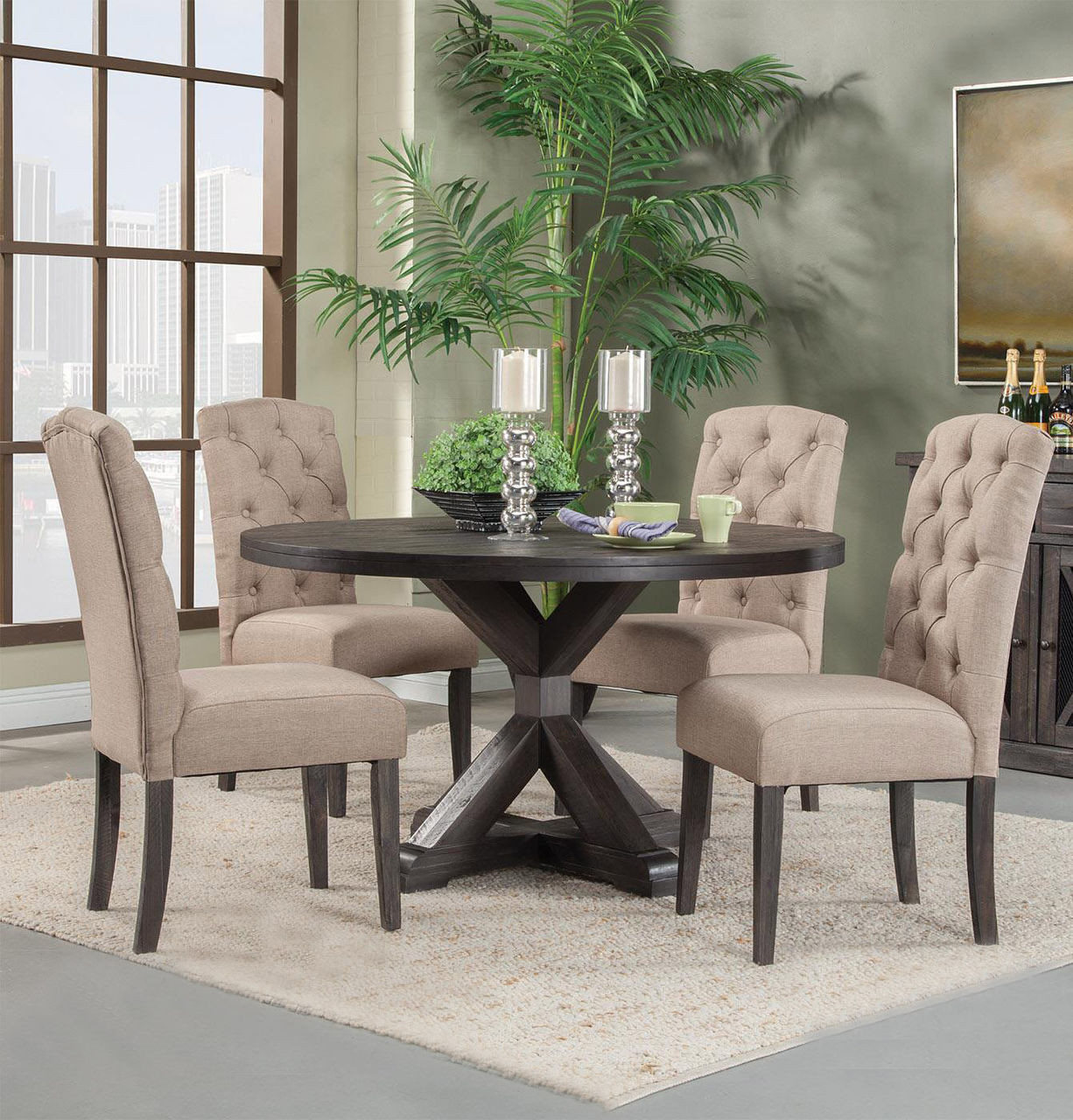 8 Room Chairs Dining Server And Table Mission