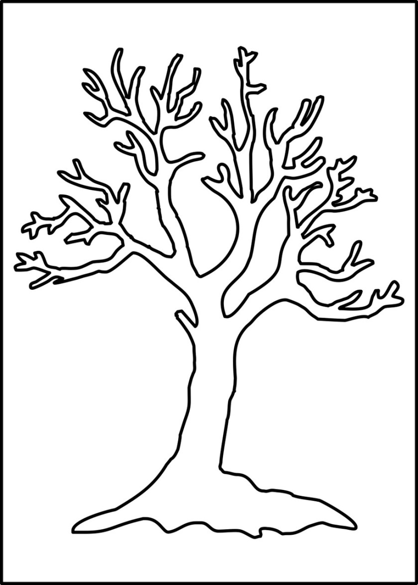 bare tree stencil  want2scrap