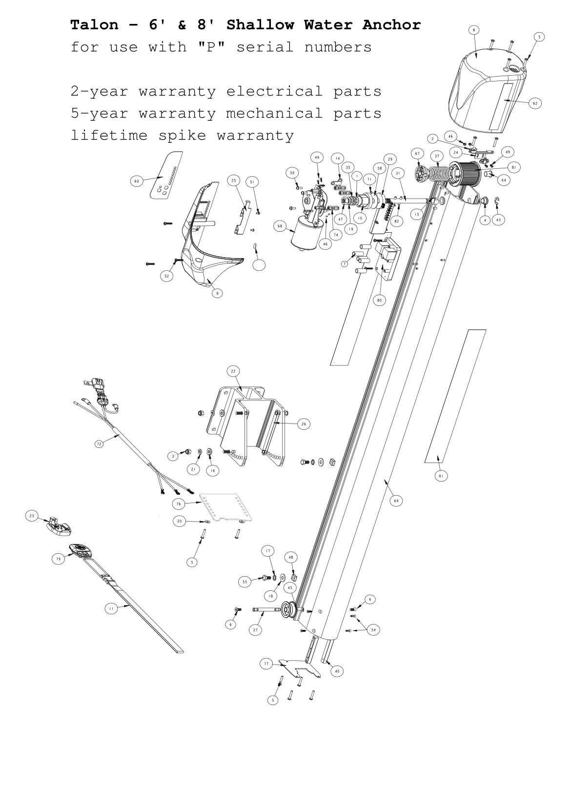 Minn Kota Talon 6 And 8 Foot Parts