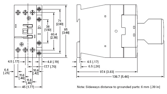 Eaton / Cutler Hammer Series XT IEC XTCE018C01 3 Pole 18