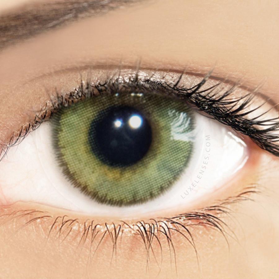 Solotica Natural Mel Light Honey Green Contact Lenses