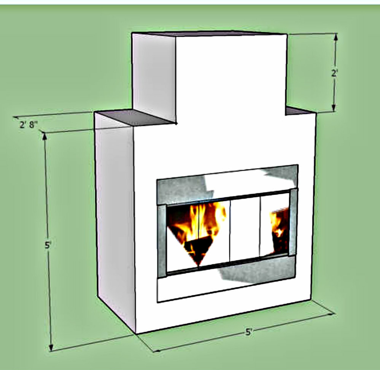 DIY BBQ Outdoor Fireplace Frame kit on Diy Outside Fireplace id=42413