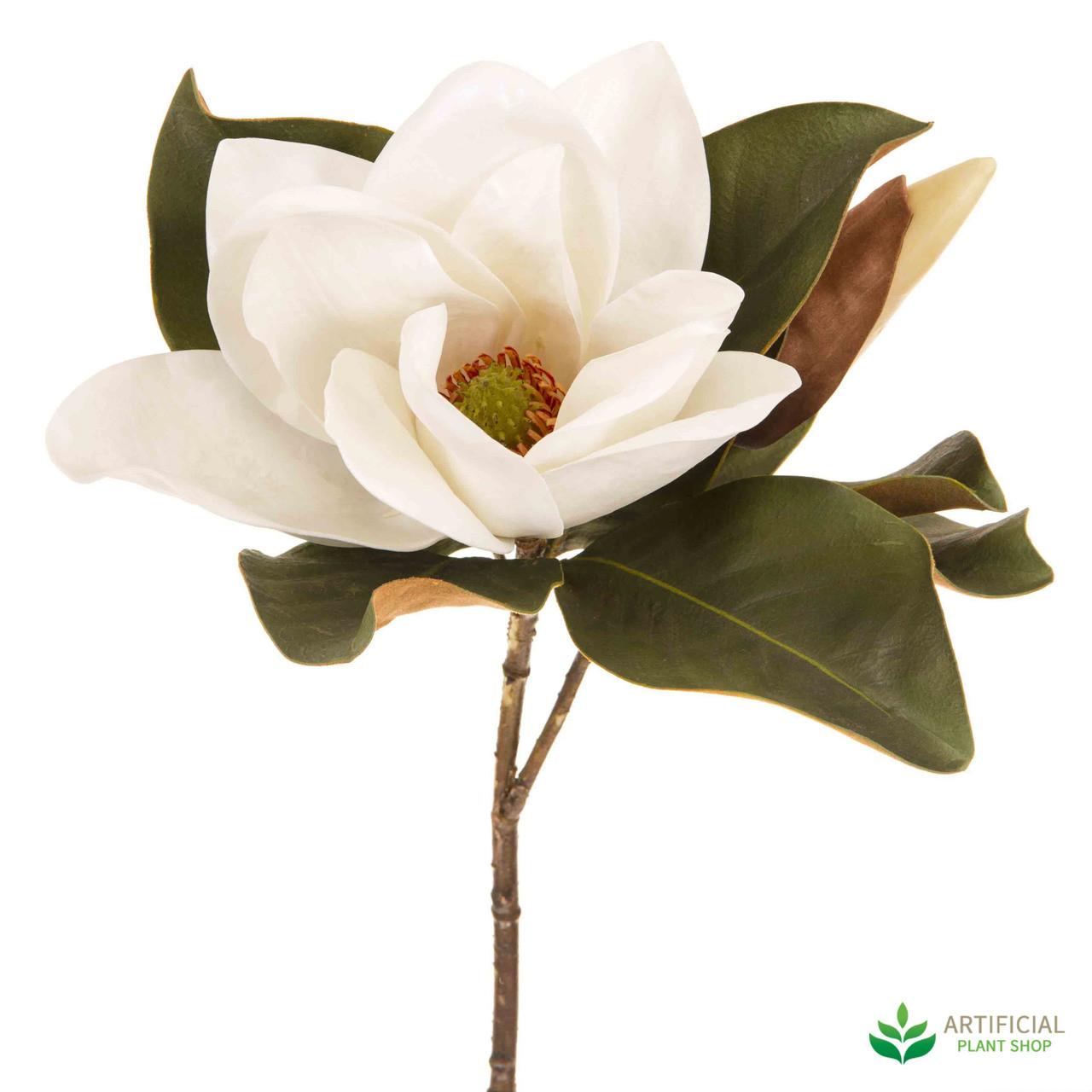 White Magnolia Flower 72cm