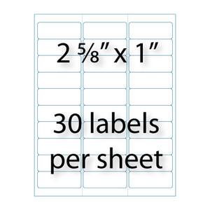 Address Labels 2 58quot X 1 Quot 30 Up Avery 5160 Compatible Stik2It
