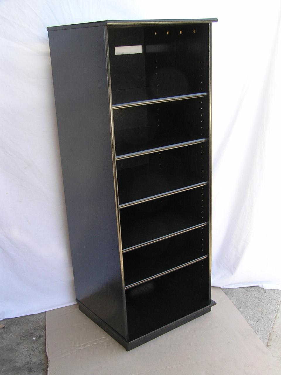 Dvd Cabinet Doors Large Black