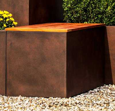 Modular Lite Square Planter Clay Composite Lightweight