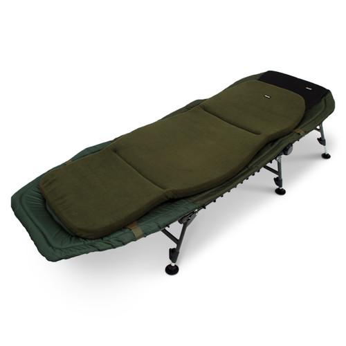 Abode Contoured Memory Foam Bedchair Mattress Topper Carp Fishing Camping Bed Cover