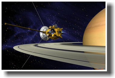 PosterEnvy - Cassini-Huygens Satellite Orbiting Saturn ...