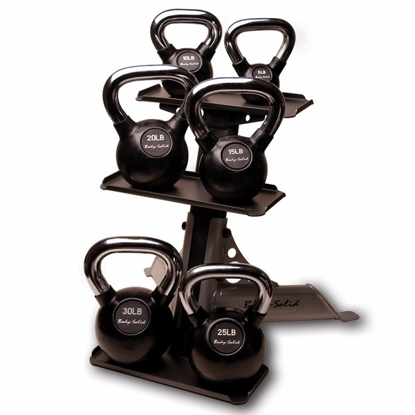 Body Solid 3 Pair Kettlebell Rack