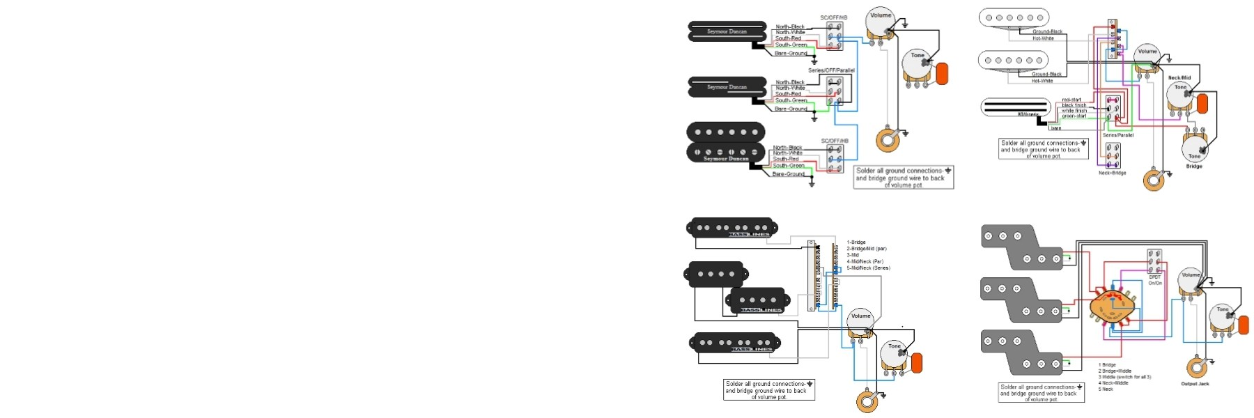 Guitar Electronics Parts & Wiring Diagrams