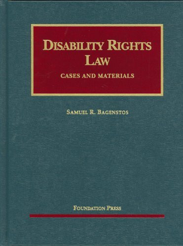 Disability Rights Law By Samuel Bagenstos American Book