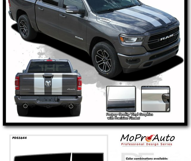 Ram Rally 2019 2020 Dodge Ram Racing Stripes Hood Decals Tailgate Vinyl Graphics Kit