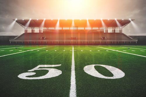 Digital Sports Background Football Sunrise Horizontal
