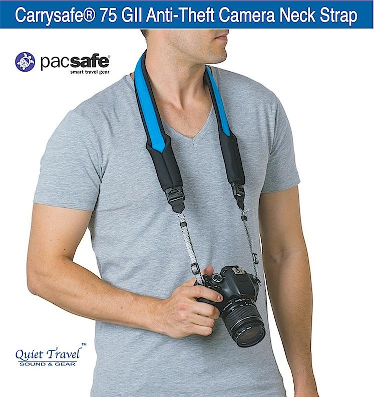 Pacsafe Carrysafe® 75 GII Anti-Theft Camera Neck Strap ...