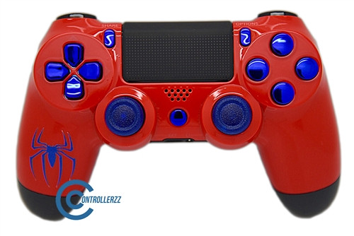 Spiderman Themed PS4 Controller