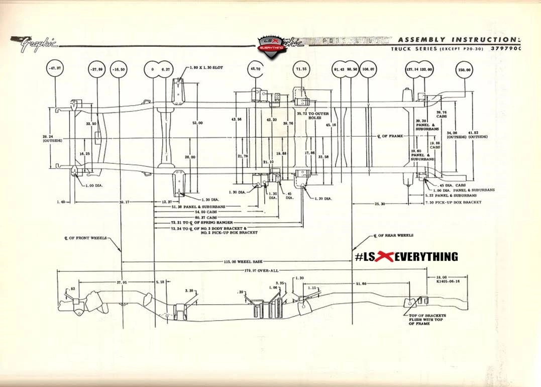 Truck Frame Dimensions Also Willys Jeep Wiring Diagram On Chevy 52 Diagrams For Images Gallery Framess Co Rh