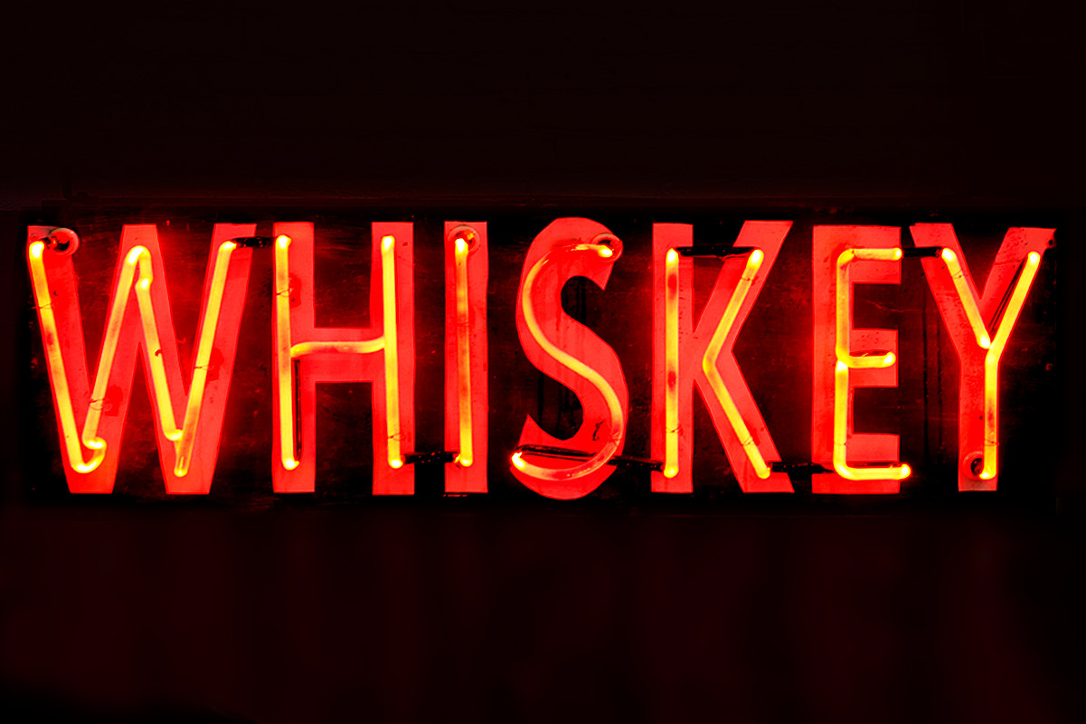 Vintage Neon Whiskey Sign Rehab Vintage Interiors