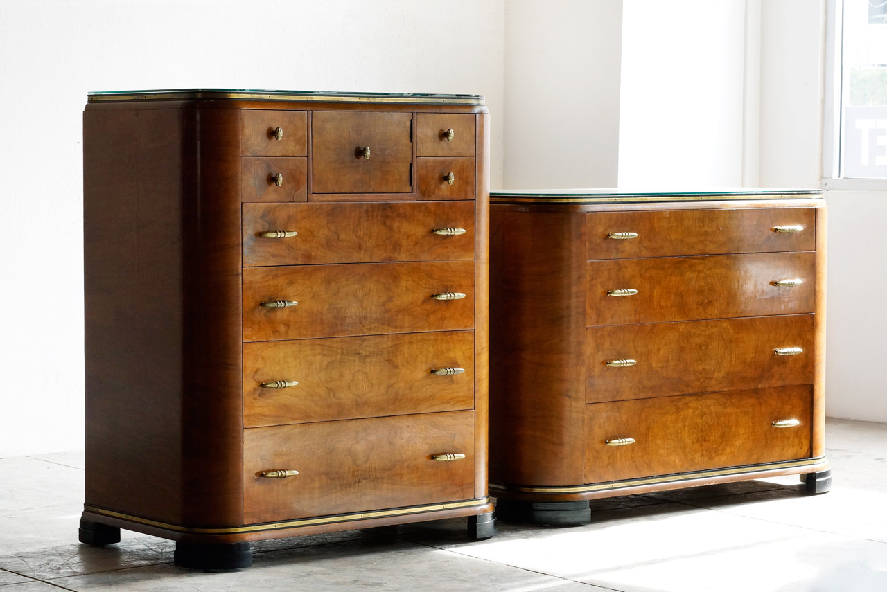SOLD Art Deco Dresser Set By Rockford 1930s Rehab Vintage Interiors