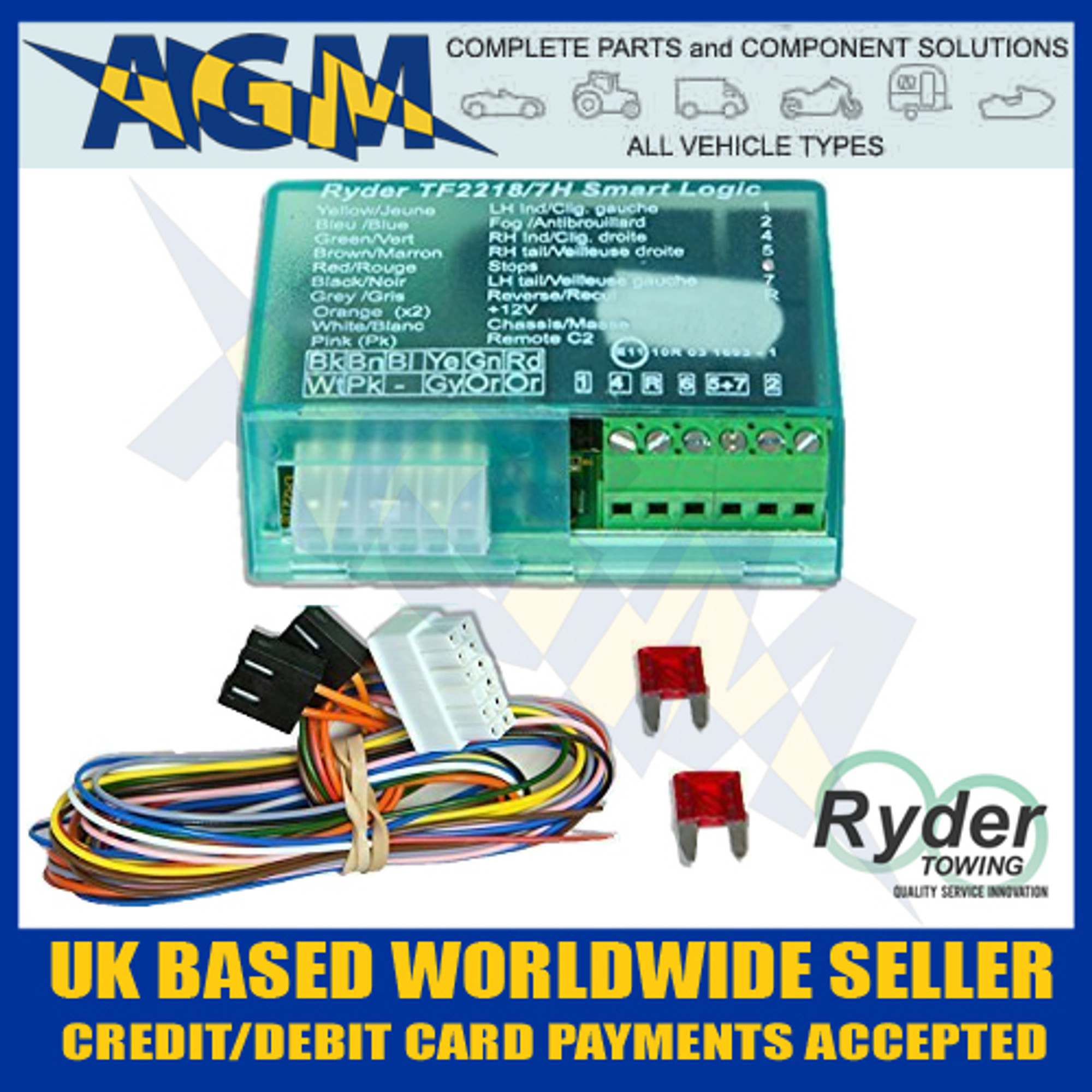 RYDER Smart Logic 7 Way Bypass Relay TF22187E For Can Bus & Multi Plex Wiring