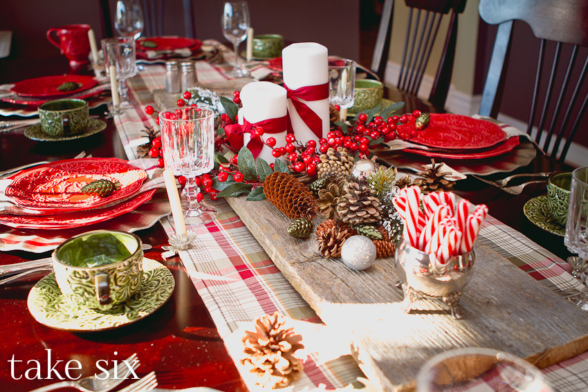 Rustic Christmas Table Centerpieces