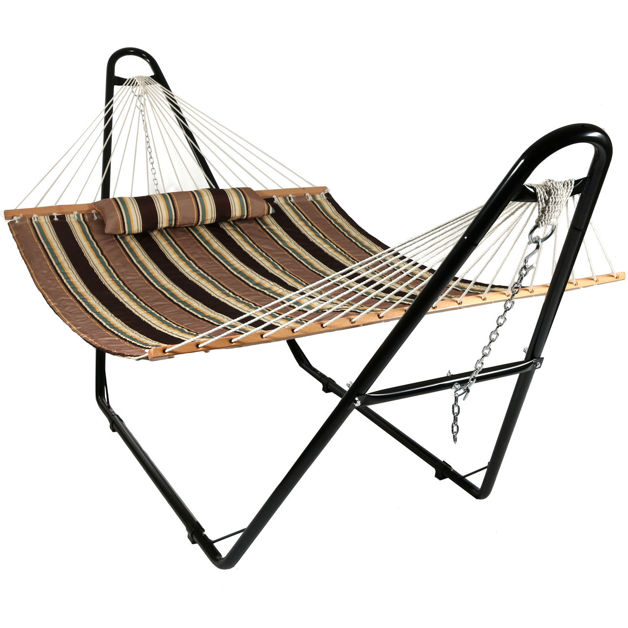 2 Person Hammock W Multi Use Universal Stand Quilted