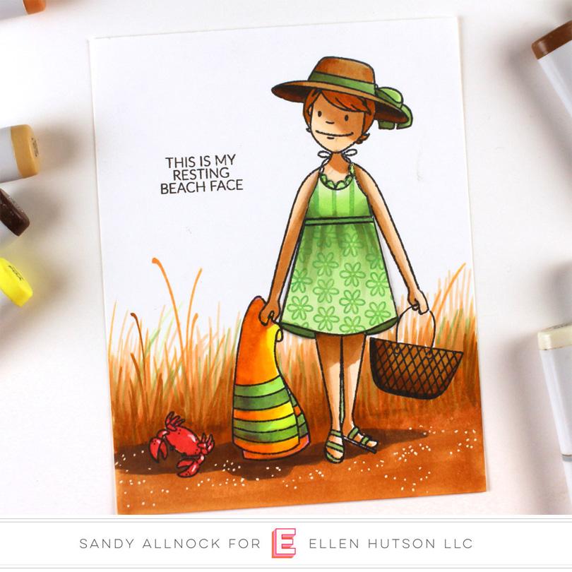 Beach Lady by Sandy