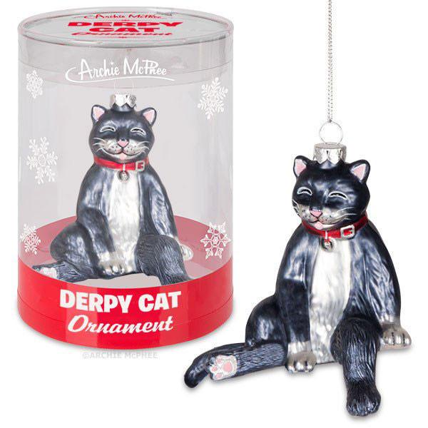 Derpy Cat Ornament