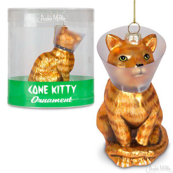 Cone Kitty Ornament