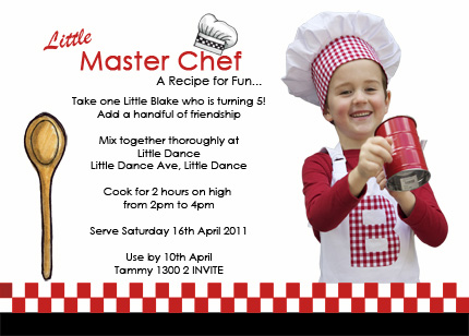 Little Master Chef Party Little Dance All Things Party