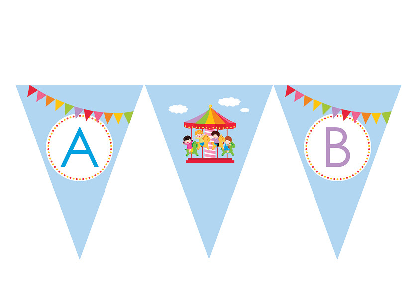 Personalised party bunting flags