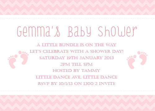 Personalized baby shower invitation
