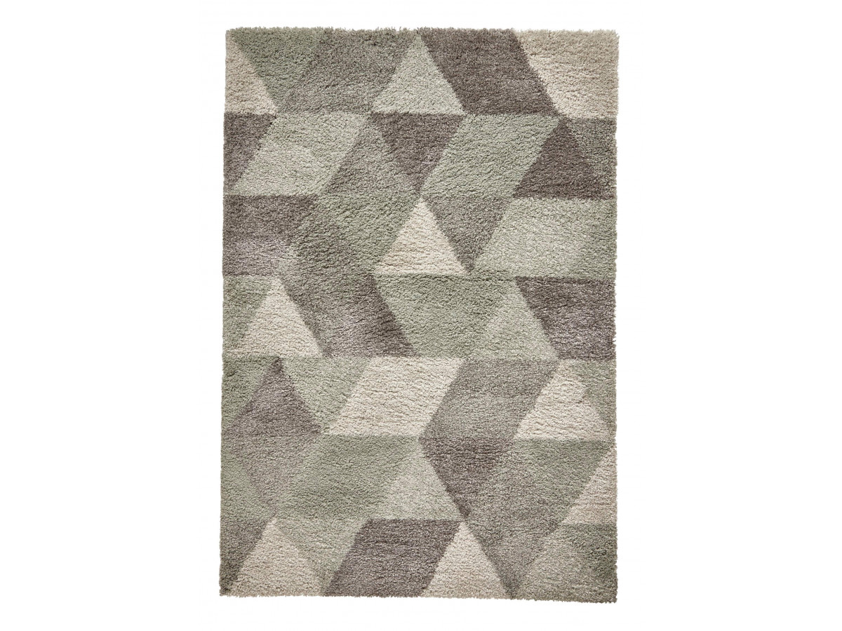 tapis noma cercle gris vert d eau 160 x 160