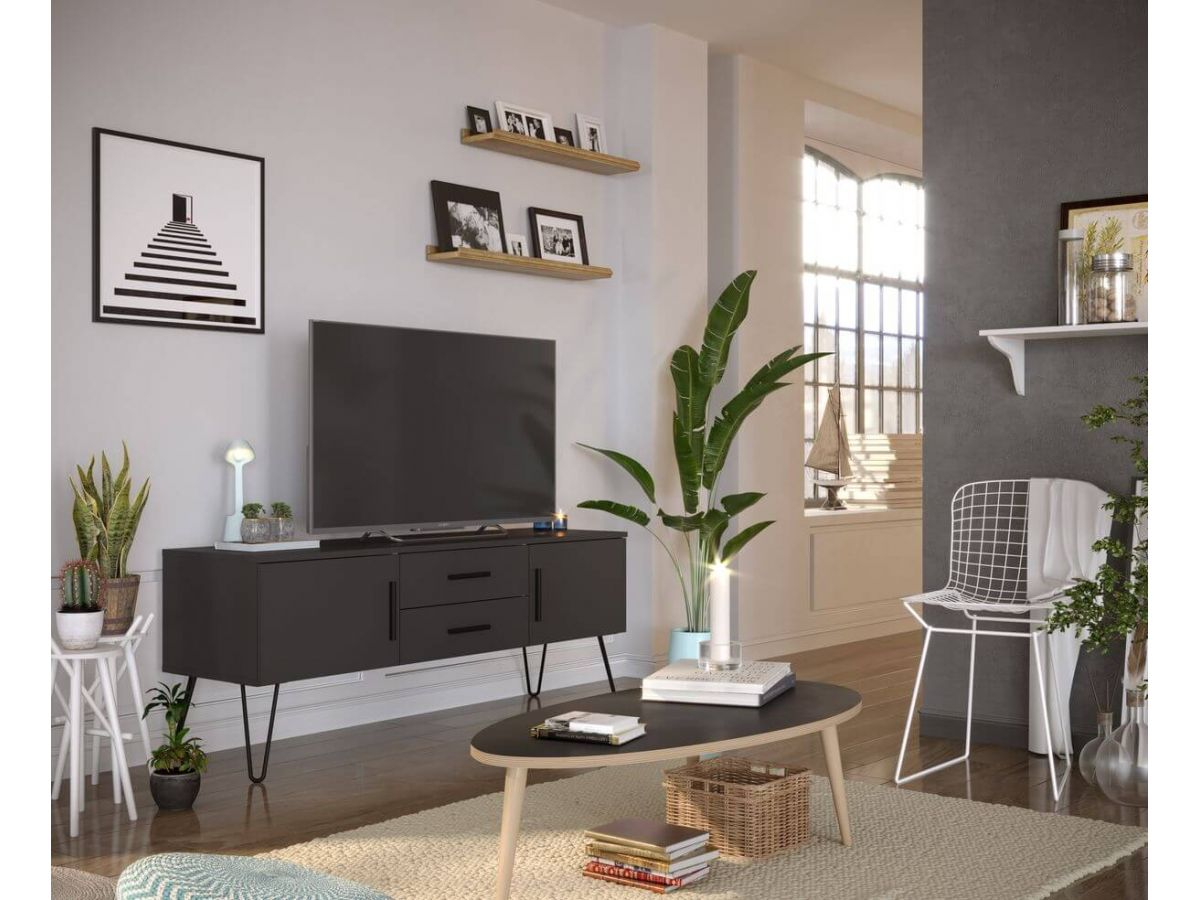 meuble tv 140 cm orlande