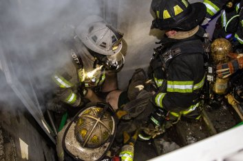 Lynbrook Fire Department saves man from burning home (image)