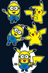Pikaminion Fusion Shirts. Pikachu and Minion mashup in this DBZ fusion dance.
