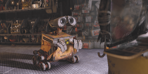 wall-e and eve watching tv