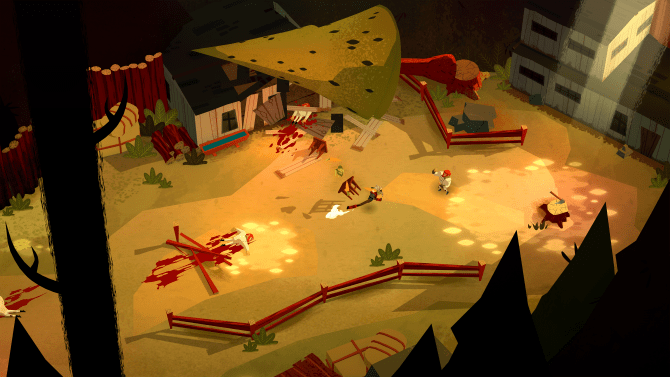 Bloodroots is a Hack and Slash Version of Hotline Miami and I Adore It